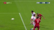 Video «Nach 107 Sekunden trifft Vidal für Bayern zum 1:0» abspielen