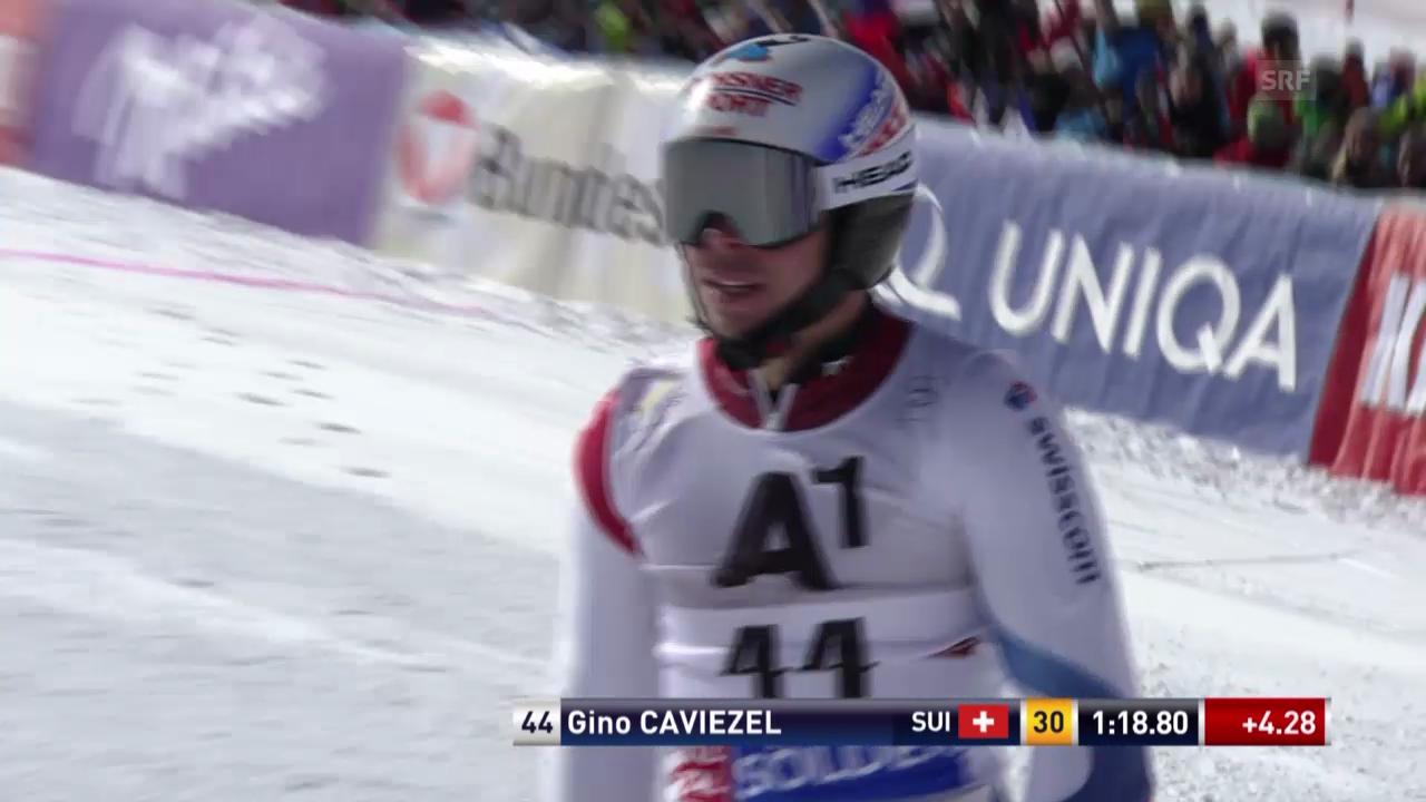 Ski: Riesenslalom Sölden, 1. Lauf Gino Caviezel