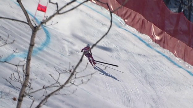Laschar ir video «Schrecksekunde für Kilde: nur noch einen Ski»