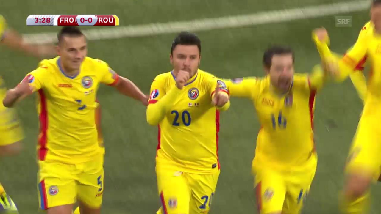 Fussball: Färöer-Rumänien