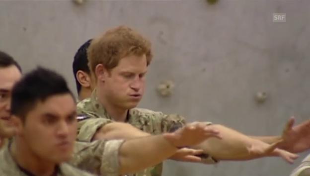 Video «Prinz Harry macht den Haka-Tanz» abspielen