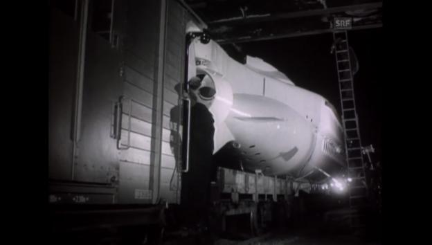 Video «Der Transport - 14.08.1964 Schweizer Filmwochenschau» abspielen