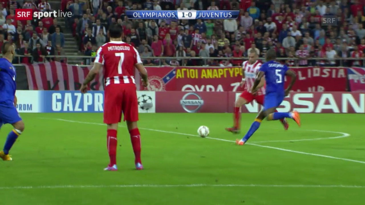 Fussball: CL, Olympiakos - Juventus
