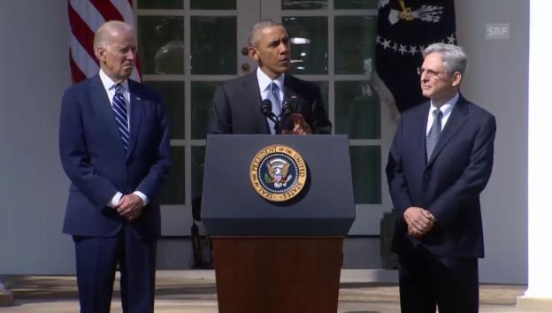 Video «Obama zur Nomination von Garland» abspielen