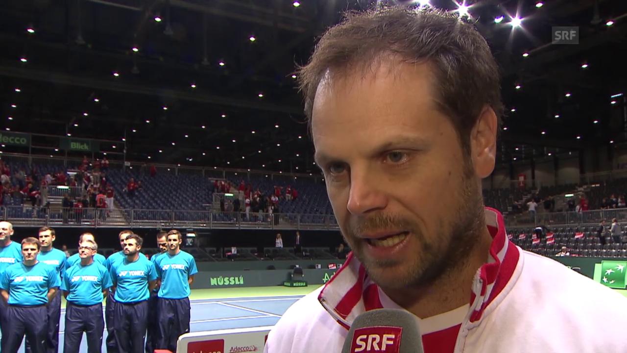 Tennis: Davis Cup, Schweiz - Niederlande, Interview Lüthi
