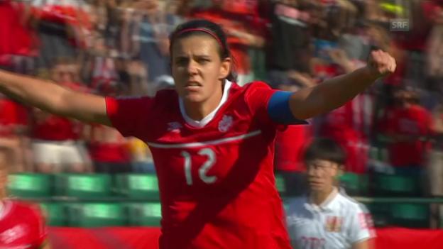 Video «Fussball: Frauen-WM 2015, Gruppe A, Kanada - China» abspielen