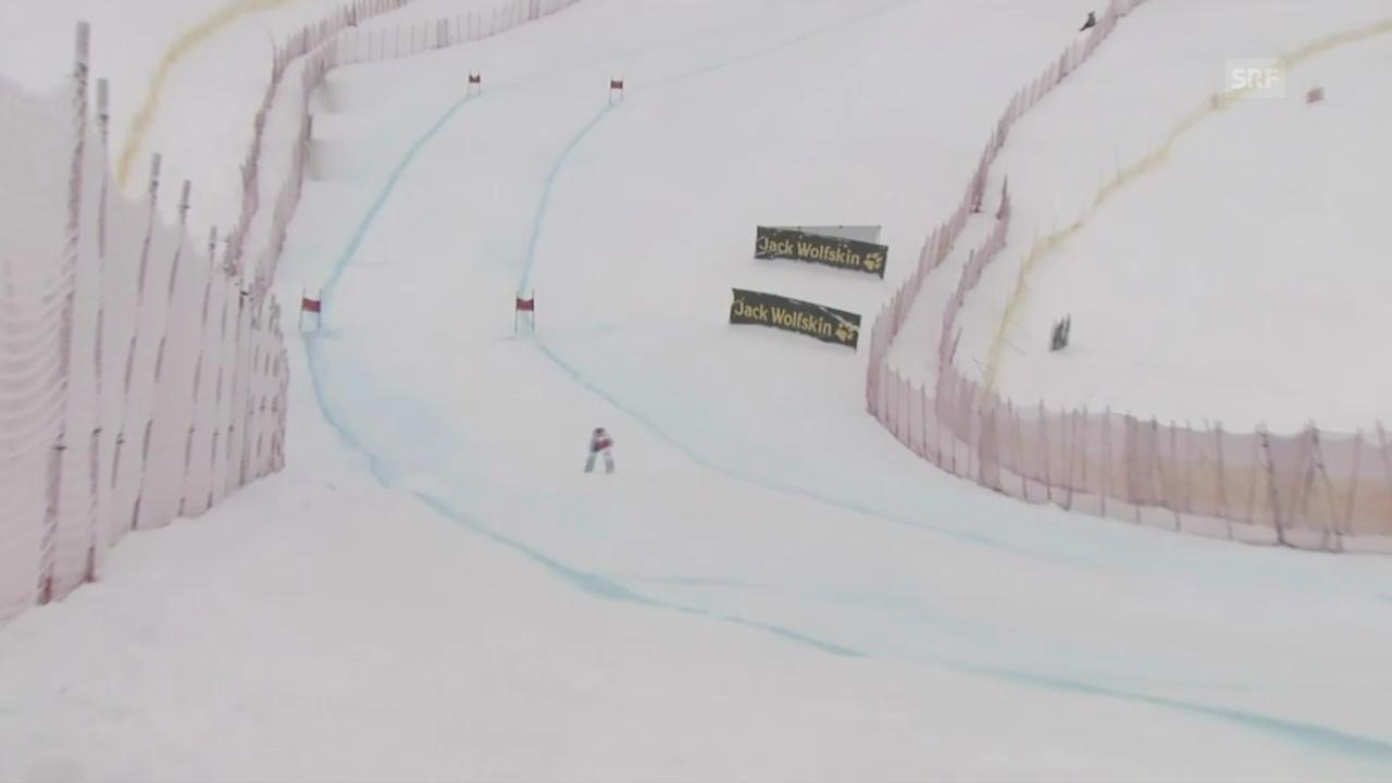Ski Alpin: Weltcup-Abfahrt in Lake Louise, Fahrt von F. Suter