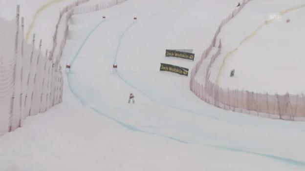 Video «Ski Alpin: Weltcup-Abfahrt in Lake Louise, Fahrt von F. Suter» abspielen
