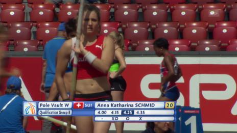 Video «Leichtathletik: Schmid überspringt 4,35 m» abspielen