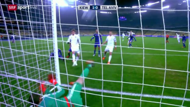 Video «Fussball: CL, Matchbericht Kiew-Maccabi» abspielen