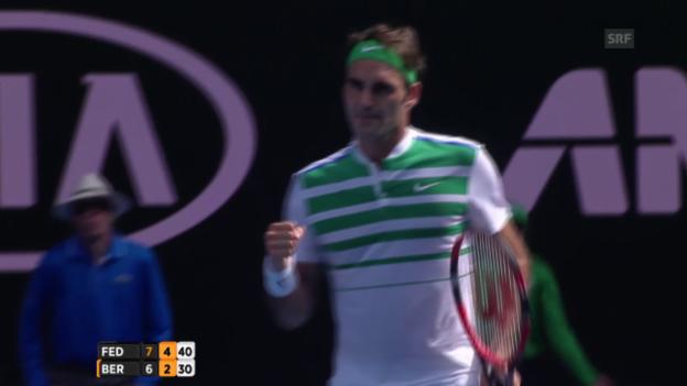 Video «Federers zweites Break» abspielen