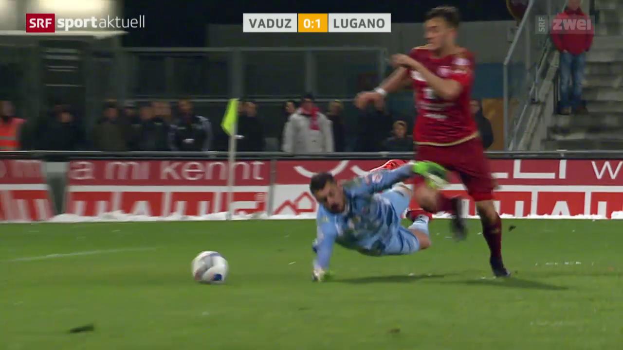 Fussball: Die Penalty-Szene bei Vaduz - Lugano
