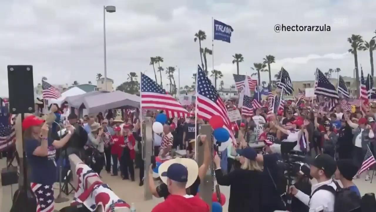 Prügel bei Trump-Rally