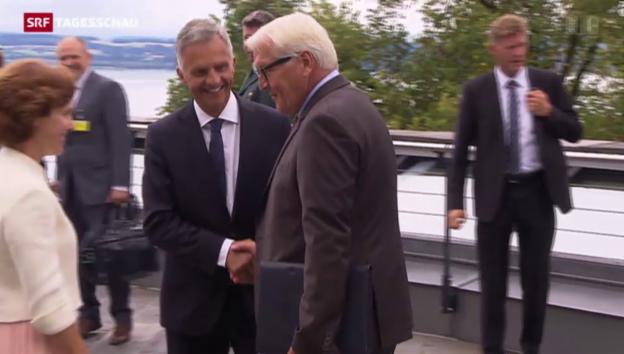 Video «Burkhalter hofft auf Unterstützung in EU-Gesprächen» abspielen