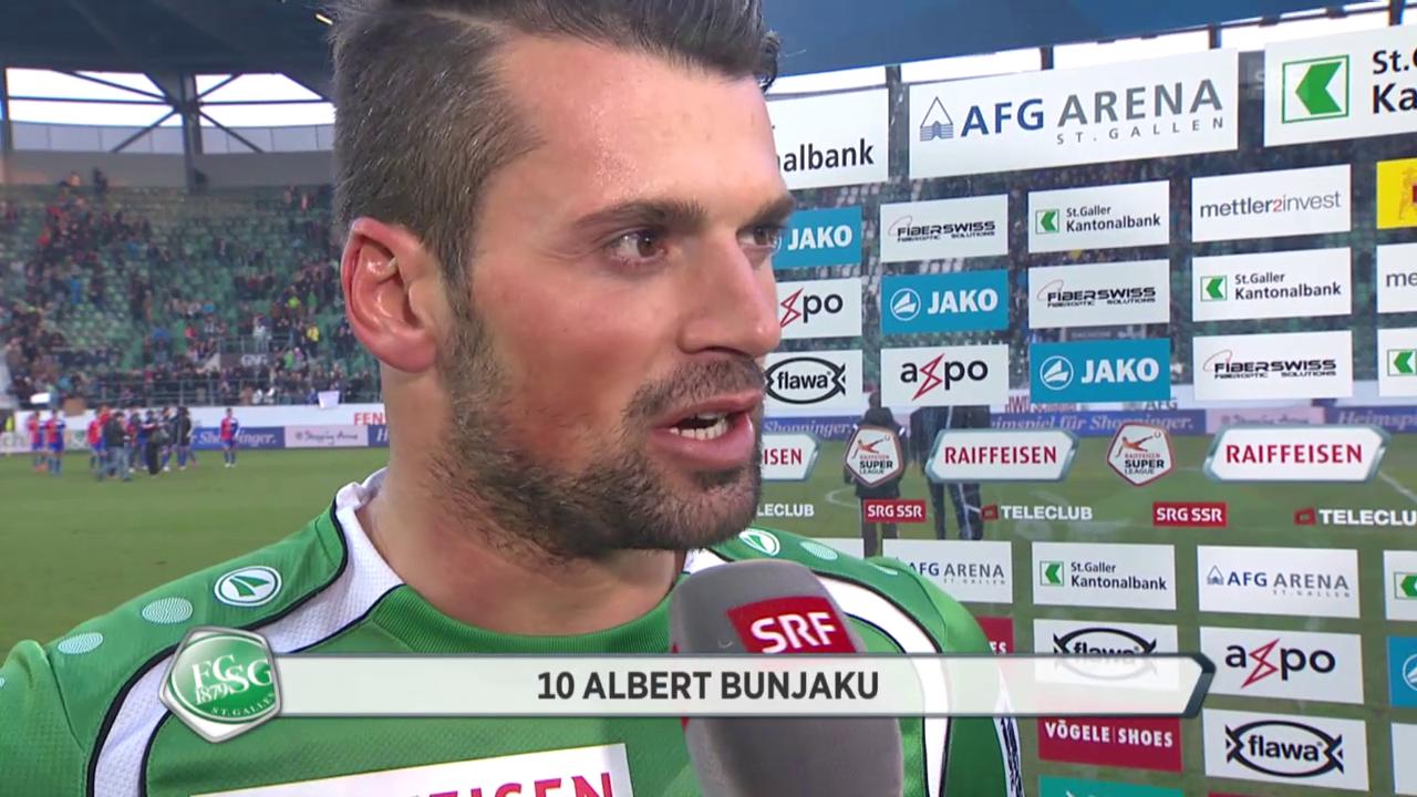 Fussball: Super League, St. Gallen - Basel, Interview Bunjaku