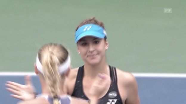 Video «Tennis: Highlights Bencic - Wozniacki» abspielen