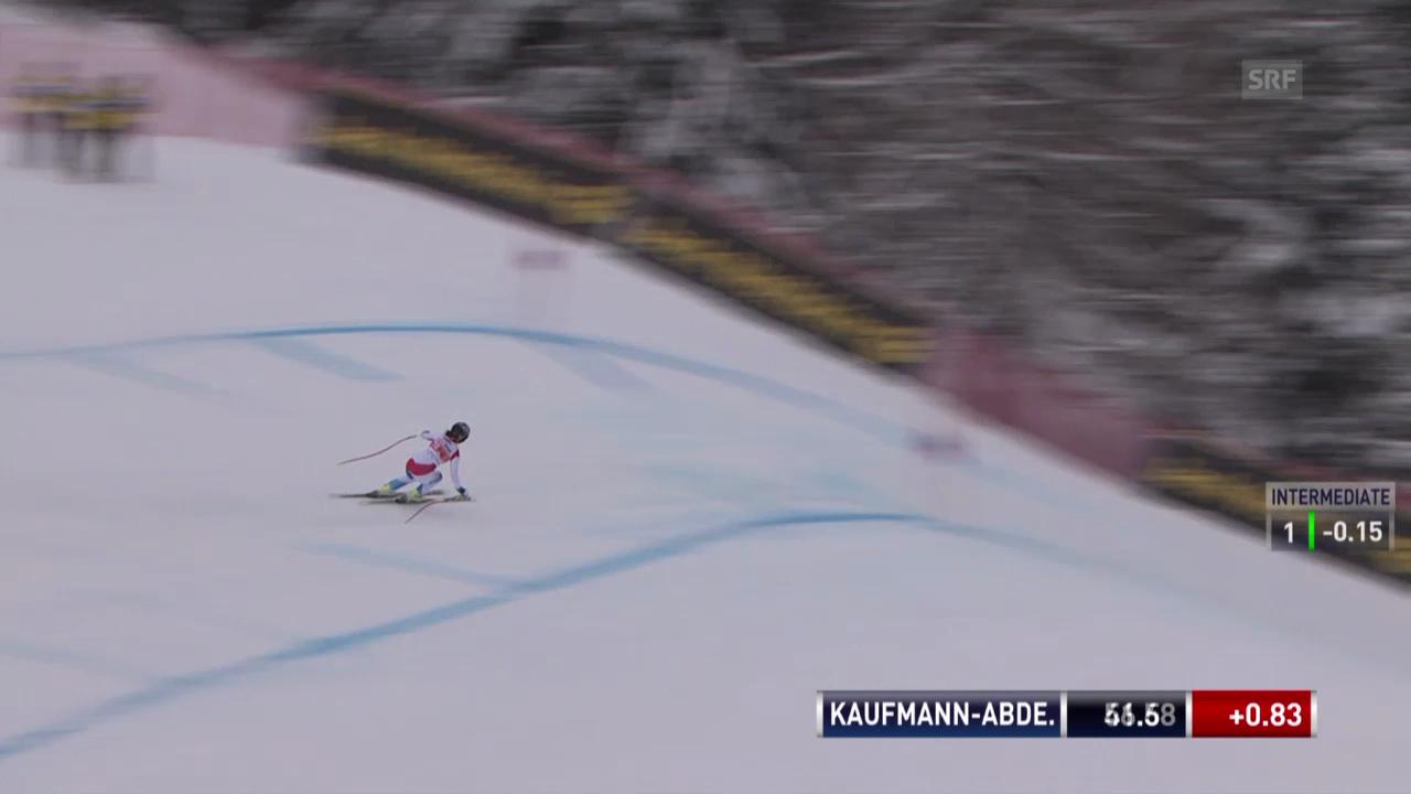 Ski: Weltcup, Abfahrt Crans-Montana, Fahrt von Kaufmann-Abderhalden