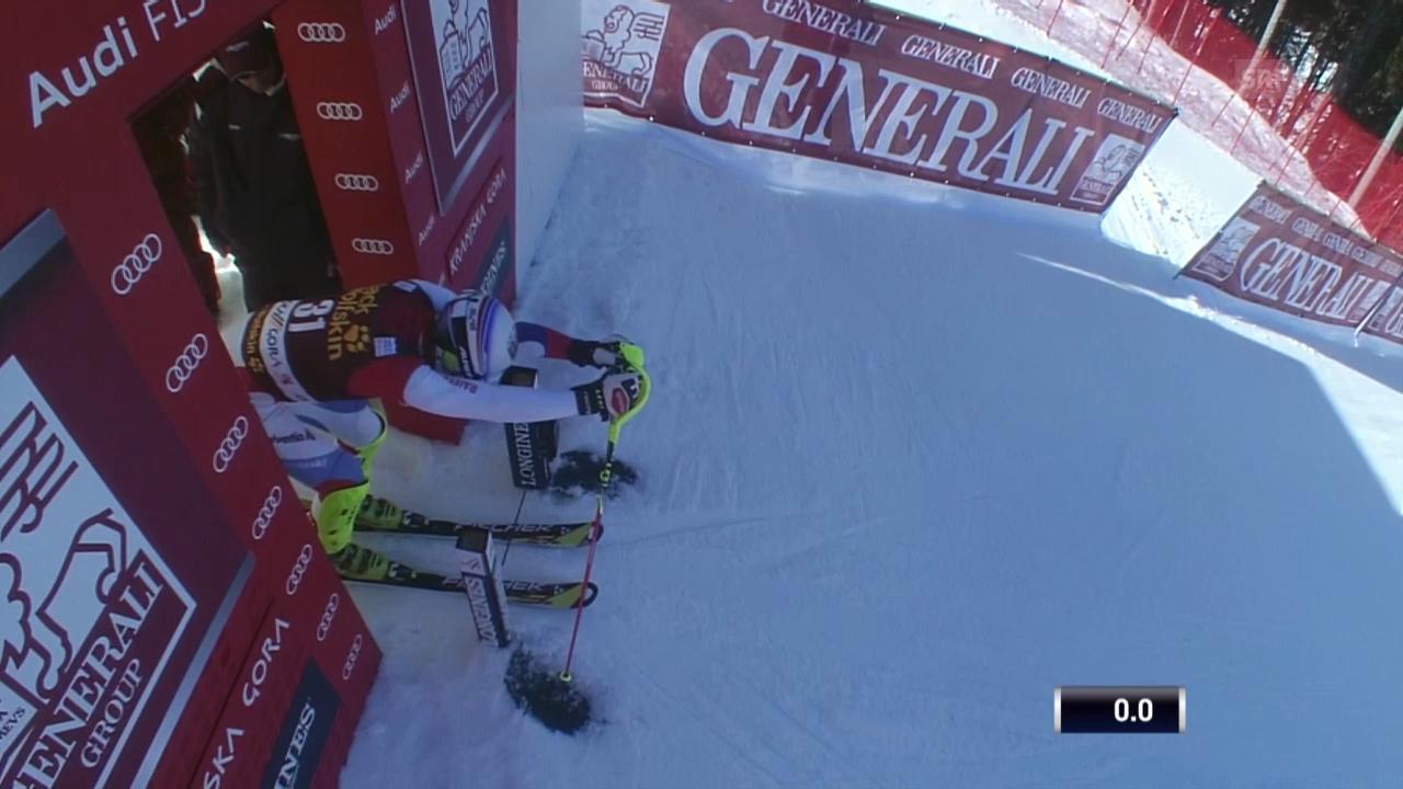 Ski Alpin: Slalom Kranjska Gora, 1. Lauf Markus Vogel («sportlive», 9.3.2014)
