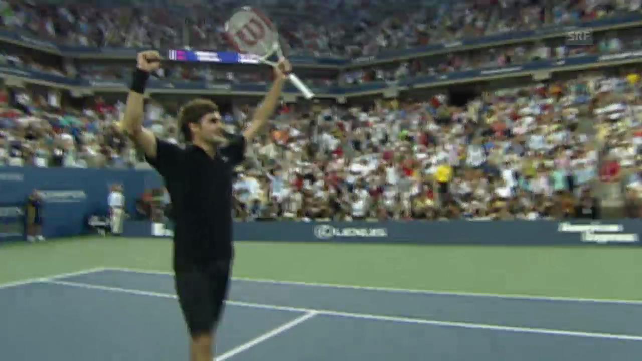 Tennis: US-Open-Final 2007, Federer - Djokovic