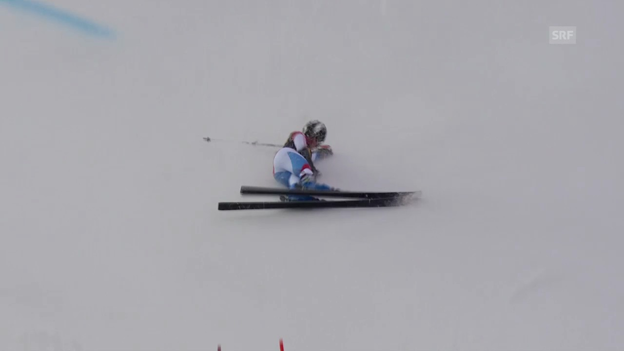 Ski Alpin: Riesenslalom Frauen in Are, Das Out von Lara Gut («sportlive», 7.3.2014)