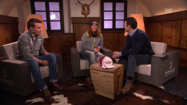 Video «Gino Caviezel und Michelle Gisin im Gespräch, Teil 2» abspielen