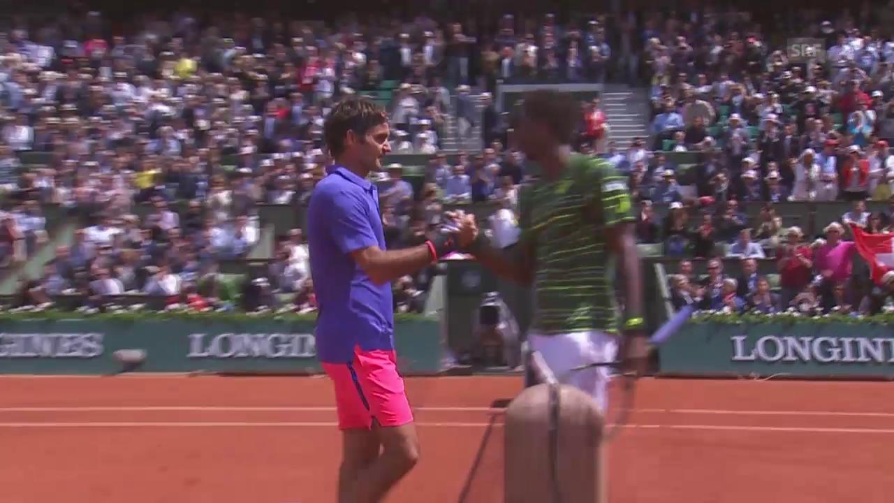 Tennis: French Open 2015, Achtelfinal Federer-Monfils