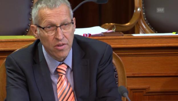 Video «Konrad Graber (CVP/LU): Initiative ist ein Blutegel» abspielen