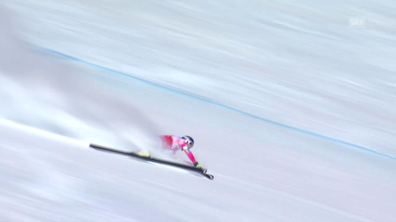 Ski alpin: Weltcup Frauen, Abfahrt St. Moritz, Schnitzer von Vonn