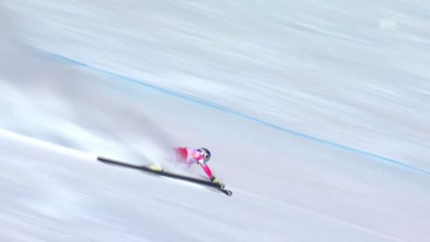 Video «Ski alpin: Weltcup Frauen, Abfahrt St. Moritz, Schnitzer von Vonn» abspielen
