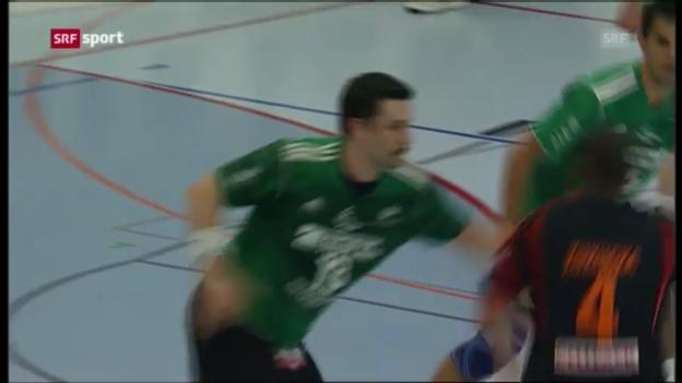 Video «Handball: Playoff-Final, 3. Spiel, Wacker Thun-Kadetten Schaffhausen» abspielen