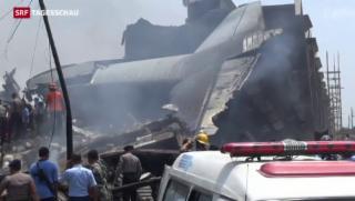 Video «Flugzeugabsturz in Indonesien» abspielen