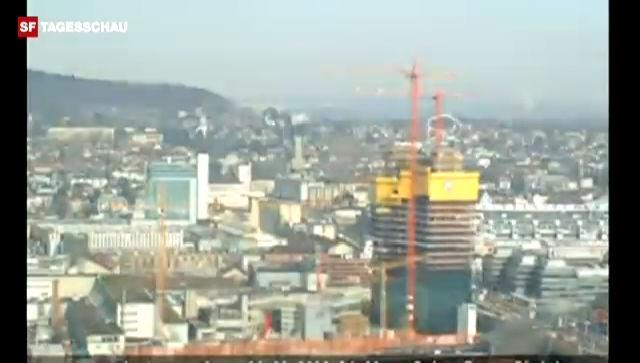 Der Bau des Prime Tower im Zeitraffer (unkommentiert, Quelle: primetower.ch)