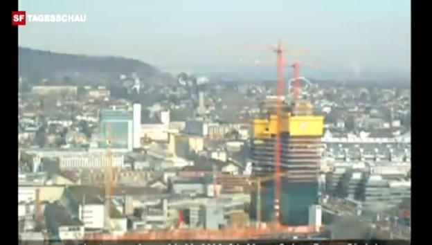 Video «Der Bau des Prime Tower im Zeitraffer (unkommentiert, Quelle: primetower.ch)» abspielen