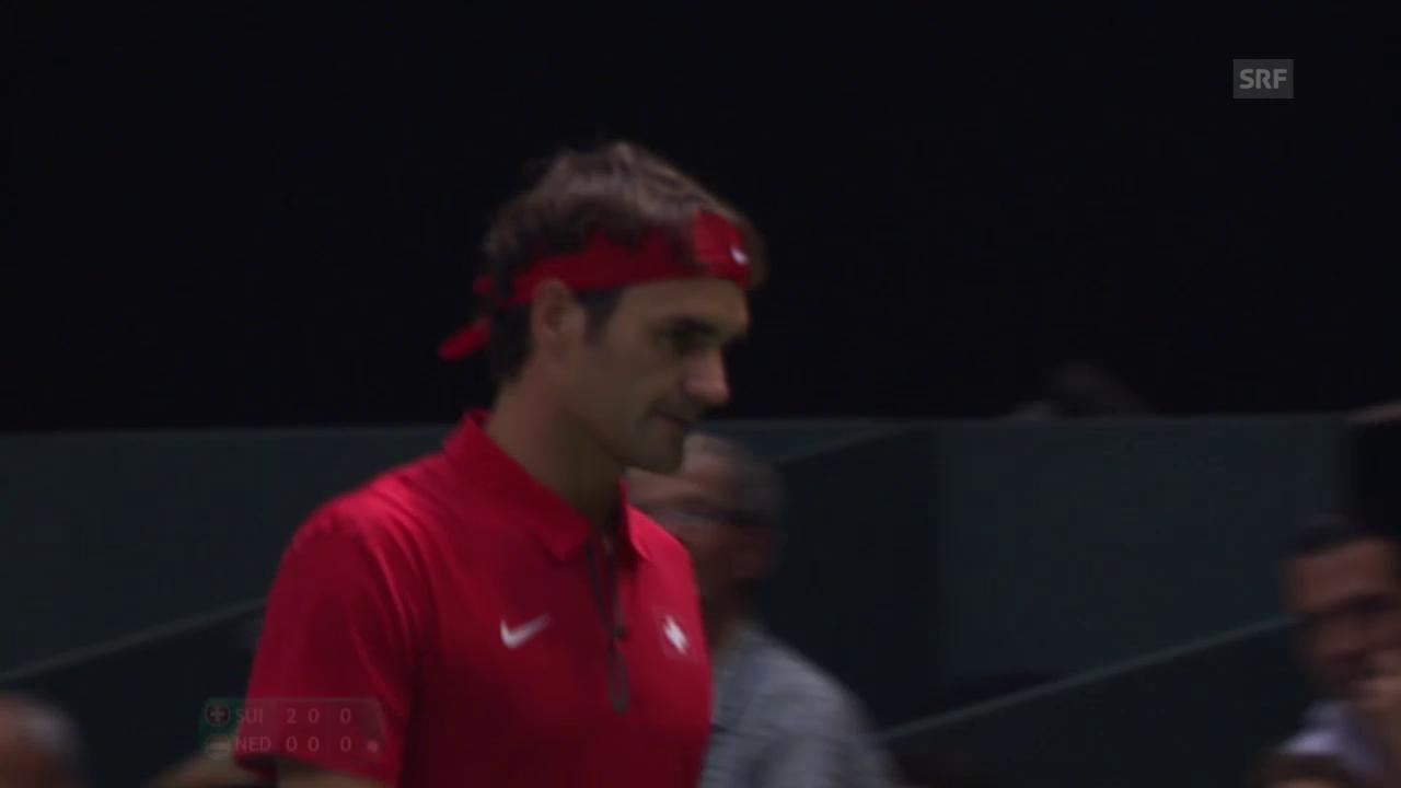 Tennis: Federer - Huta Galung, 2. Satzball