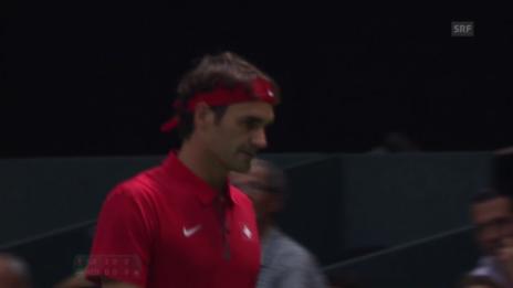 Video «Tennis: Federer - Huta Galung, 2. Satzball» abspielen