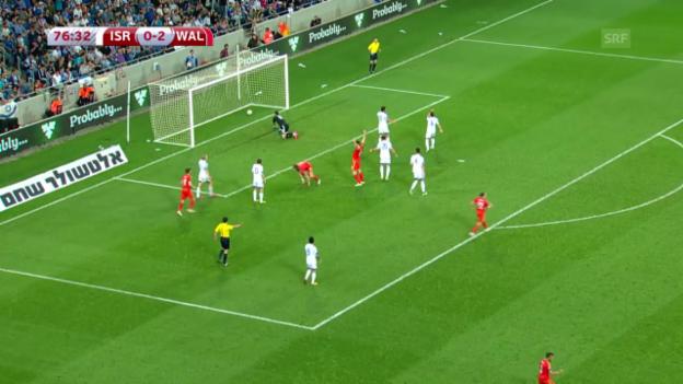 Video «Fussball: EM Qualifikation, Gruppe B, Israel - Wales» abspielen