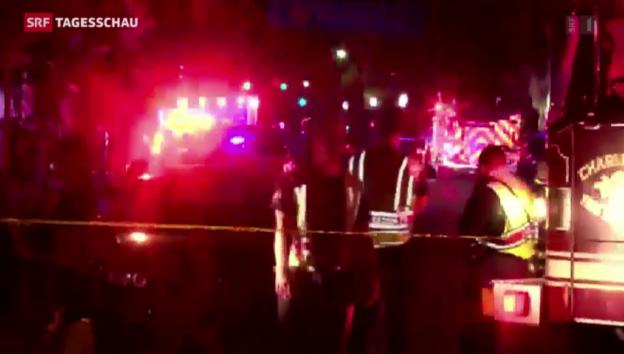 Video «Neun Tote bei Schiesserei in Charleston» abspielen