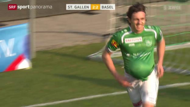 Video «Fussball: Super League, St. Gallen - Basel» abspielen