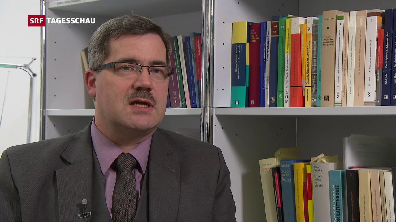 Thomas Gächter, Rechtsprofessor, zur Vorlage