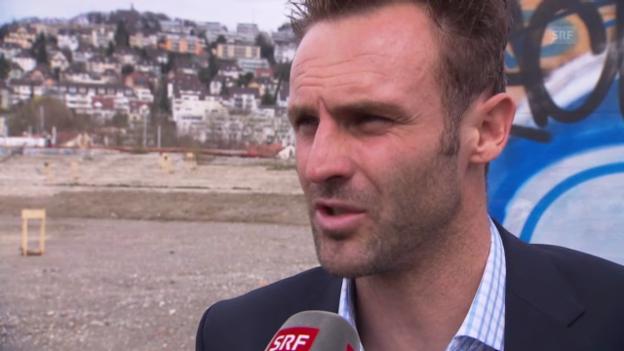 Video «Fussball: Davide Taini vor dem Cup-Halbfinal gegen den FCZ» abspielen