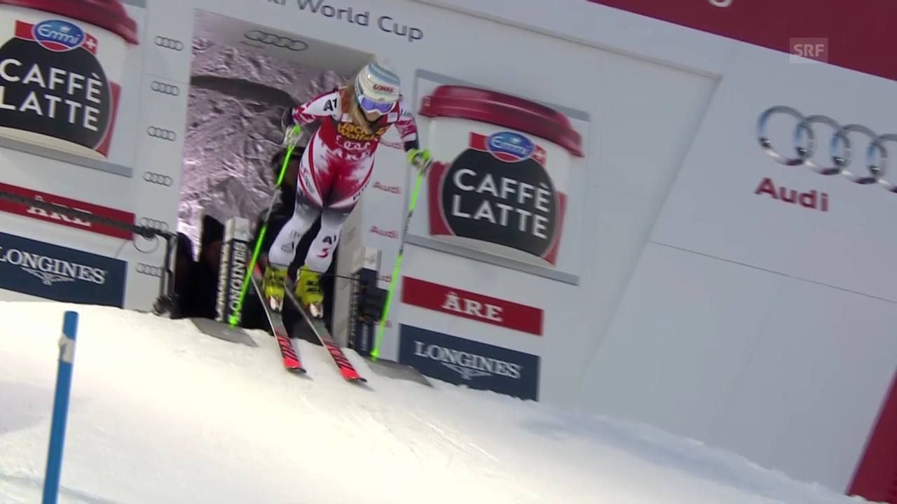 Ski Alpin: 1. Lauf Eva-Maria Brem