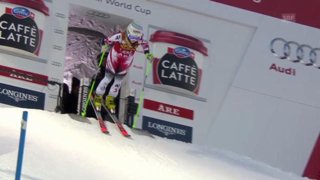 Video «Ski Alpin: 1. Lauf Eva-Maria Brem» abspielen