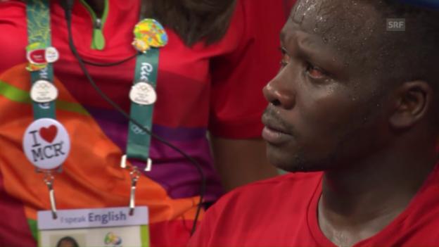 Video «Speerwerfer Yego weint silberne Tränen» abspielen