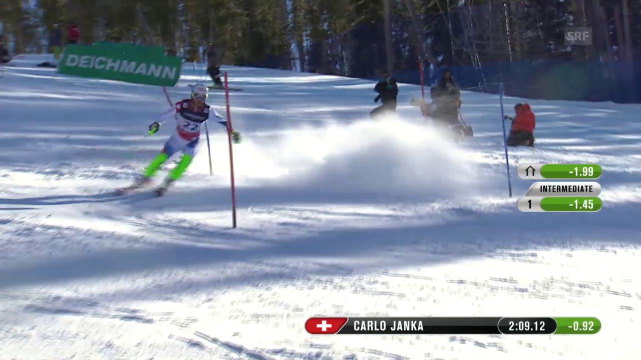 Der Slalom von Carlo Janka