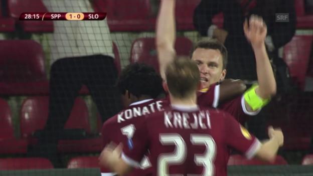Video «Fussball: Europa League, Sparta Prag - Slovan Bratislava» abspielen