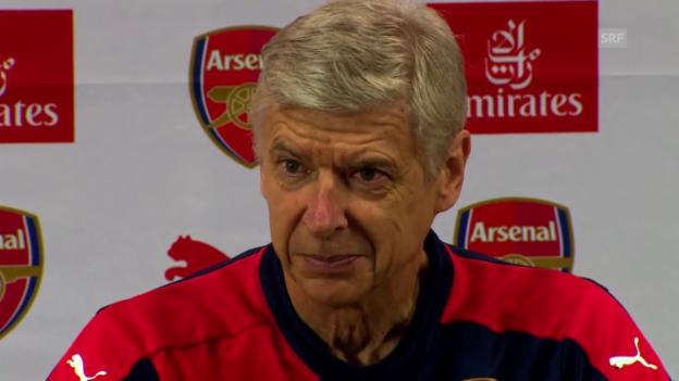 Video «Fussball: Pressekonferenz mit Arsene Wenger (Englisch, Quelle: SNTV)» abspielen