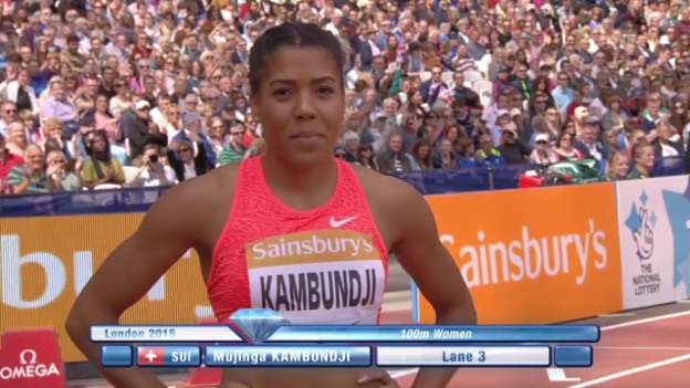 Video «Leichtathletik: Diamond League London, Lauf Kambundji» abspielen