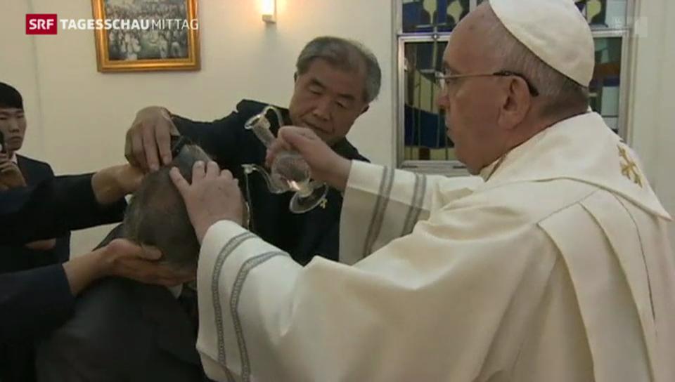 Papst gibt Privataudienz aus traurigem Anlass
