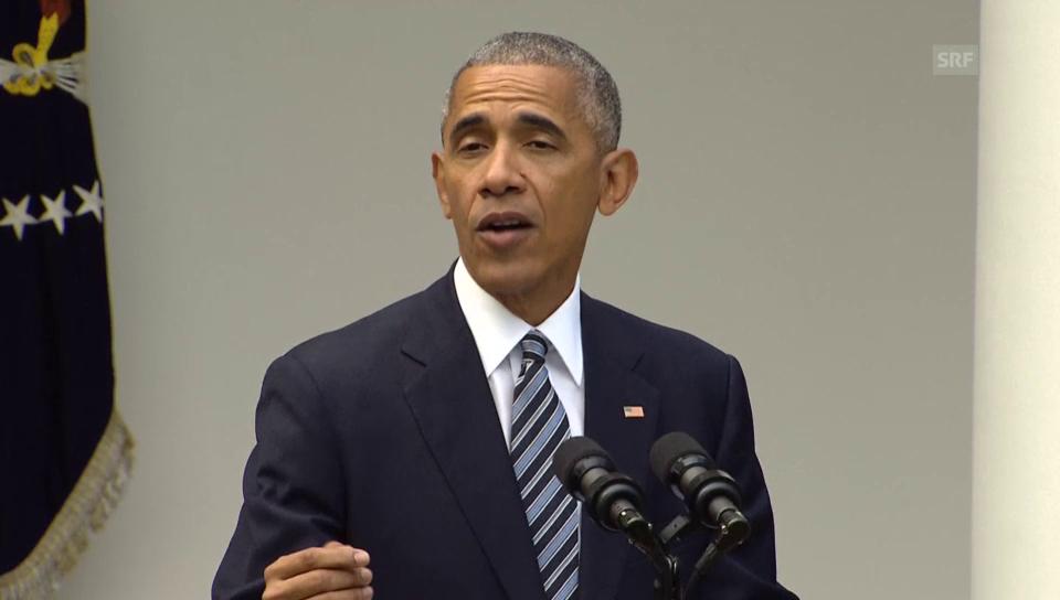 Obama: «Wir stehen alle auf der gleichen Seite»