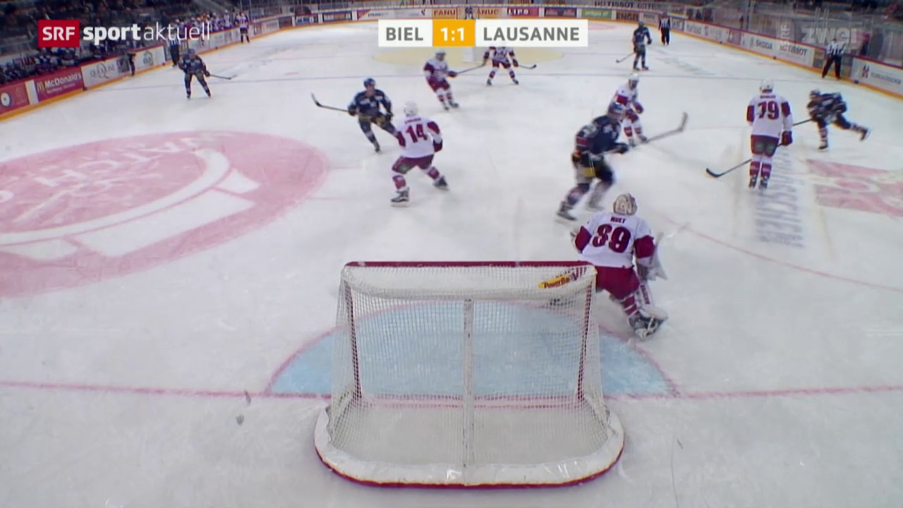 Eishockey: Biel-Lausanne